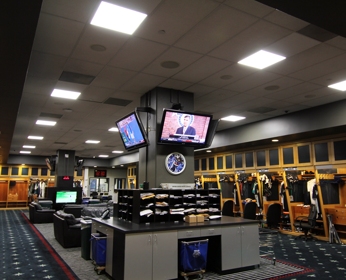 Seattle Mariners club house image showing human centric lighting